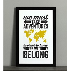 Adventure Typographic Map Print