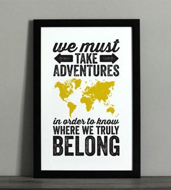 Adventure Typographic Map Print