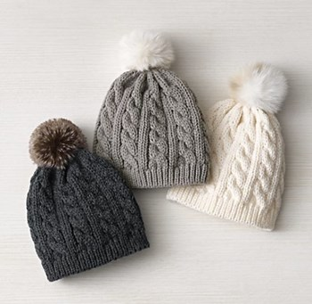 Cable Knit & Luxe Faux Fur Beanie