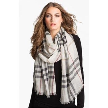Giant Check Print Scarf