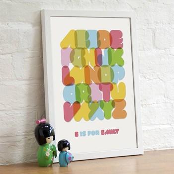 Personalised Child's Alphabet Print
