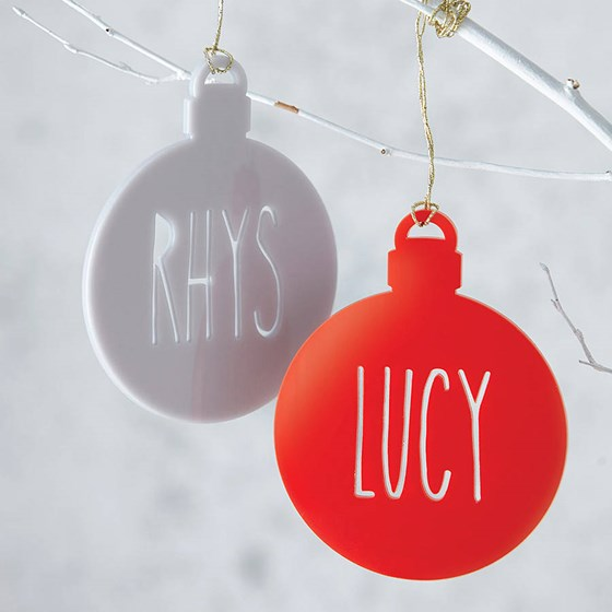 Personalised Laser Cut Bauble