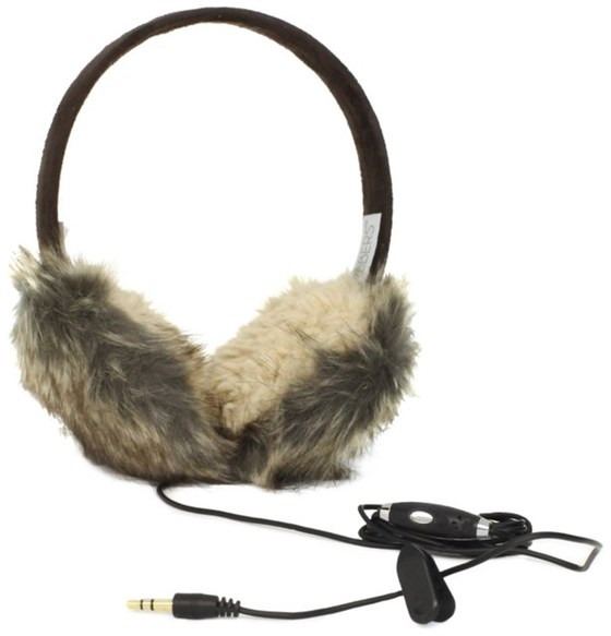 Women's Animal Fur Headphone Earmuffs