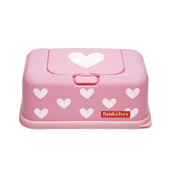 Funkybox Wipe Dispenser pink hearts